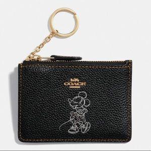 Coach Minnie Mouse Mini Skinny Id Case